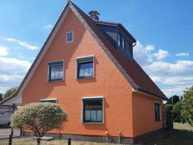 Hausfassade von Gediga gestrichen