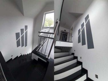 Treppenhaus von Gediga gestrichen